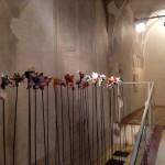 Veduta della mostra Sfogliare Stanze (Parma, 2014), particolare con opere di Giosetta Fioroni e Michelangelo Pistoletto / View of the exhibition Browsing Rooms (Parma, 2014), detail with works by Michelangelo Pistoletto and Giosetta Fioroni