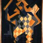Juan Gris (Madrid 1887-Boulogne-Billancourt 1927) Arlecchino con violino 1919, olio su tela, cm 91,7 x 73. Collezione del Museo Nacional Centro de Arte Reina Sofía, Madrid
