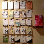 Veduta della mostra Sfogliare Stanze (Parma, 2014), particolare dell'allestimento / View of the exhibition Browsing Rooms (Parma, 2014) detail of the display