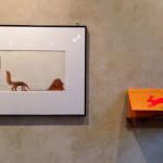 Veduta della mostra Sfogliare Stanze (Parma, 2014), particolare con opere di Enzo Mari / View of the exhibition Browsing Rooms (Parma, 2014), detail with works by Enzo Mari