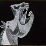 """Pablo Picasso (Malaga 1881 – Mougins 1973) Testa di cavallo. Schizzo per """"Guernica"""" 2 maggio 1937, olio su tela, cm 65 x 92. Collezione del Museo Nacional Centro de Arte Reina Sofía, Madrid, Legato Picasso, 1981"""
