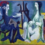 Pablo Picasso (Malaga 1881 – Mougins 1973) Il pittore e la modella 30 marzo-30 settembre 1963, olio su tela, cm 130 x 162. Collezione del Museo Nacional Centro de Arte Reina Sofía, Madrid