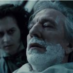 Rickman in 'Sweeney Todd', di Tim Burton, accanto a Johnny Depp
