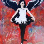 Blek le Rat, Sweet Dreams (with wings, red), 2015 © Wunderkammern Gallery