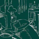 Illustrazione di Cecilia Mistrali per La scomparsa della cucina