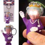 Portachiavi luminoso dedicato a Elisabetta II